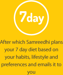 7 day diet plan from Samreedhi Goel