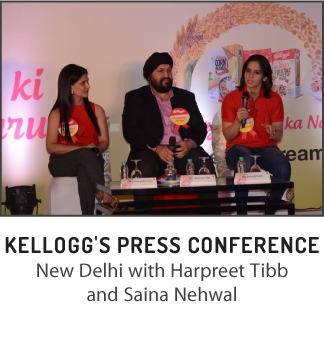 Kelloggs press conference with Saina Nehwal